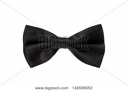 black bowtie vintage isolated over white background