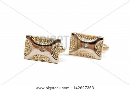 cufflinks classic accessory isolated on white background