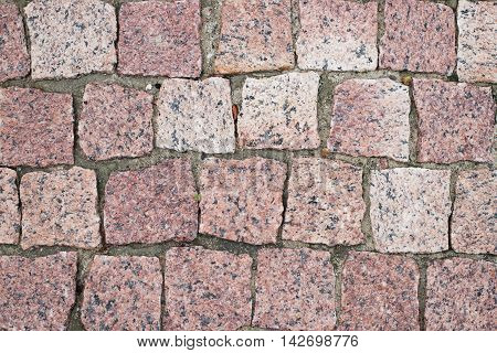 Old red pavers for for background and texture