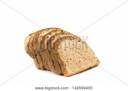 Integral Bread. Brown Bread in white background