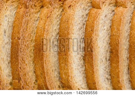 Close Up Of A Group Of Rusks