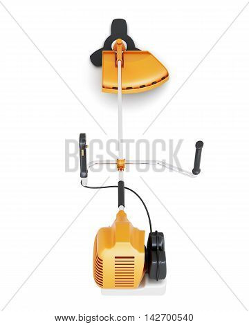 Mower Hand Top View Isolated On White Background. 3D Rendering