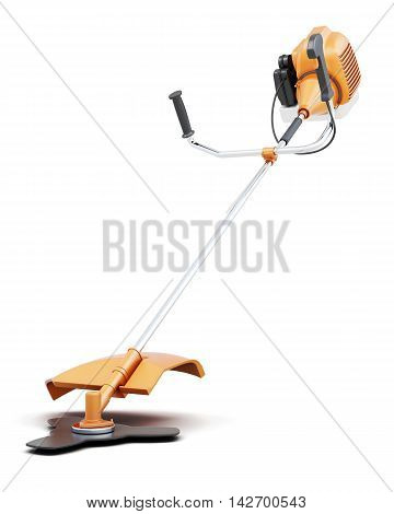 Lawn Mower Hand Isolated On White Background. 3D Rendering