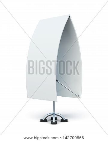 Bilateral Advertising Stand Isolated On A White Background. 3D Render Image