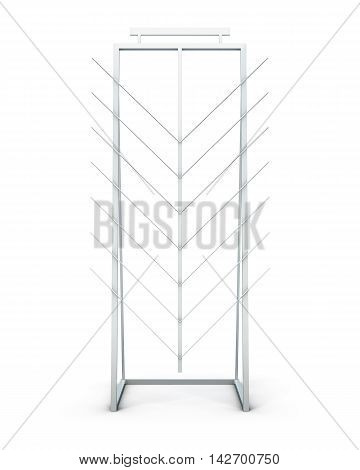 Promotional Stand For Product Samples Isolated On White Background. 3D Rendering
