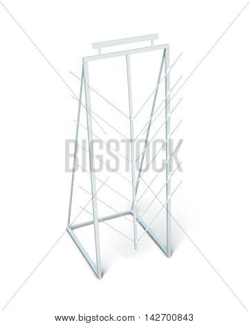 Display Stand For Laminate Isolated On White Background. 3D Rendering