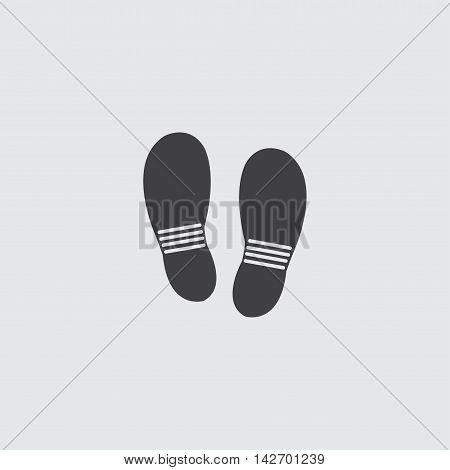 Shoes icon in a flat design in black color. Vector illustration eps10