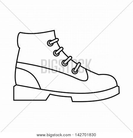 Men oxfords icon in outline style isolated on white background. Wear symbol vector illustration