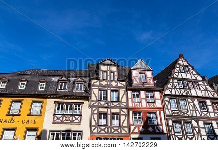 Historic house facades of Cochem Mosel picture