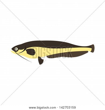Som icon in flat style isolated on white background. Sea creatures symbol