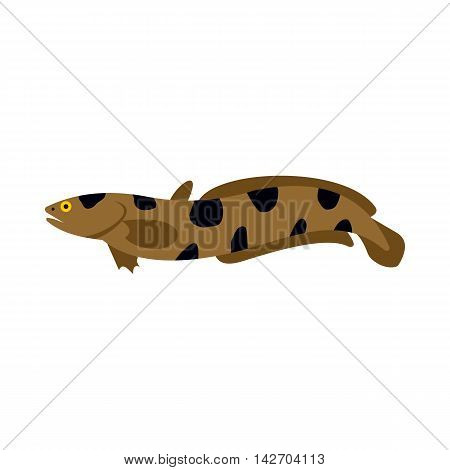 Snakehead icon in flat style isolated on white background. Sea creatures symbol