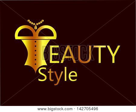 the illustration - beautiful logo - on the theme of beauty.