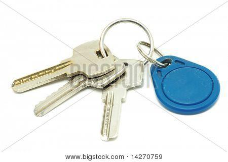 keys isolated on white background