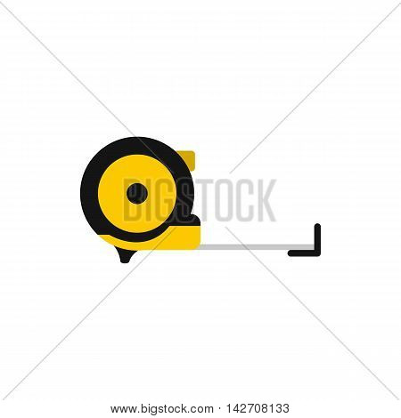 Construction roulette icon in flat style isolated on white background. Tool symbol