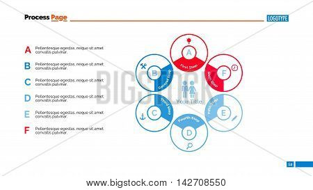Six branches hexagon diagram. Element of presentation, diagram, process chart. Concept for business strategy, templates, reports. Can be used for topics like business strategy, planning, management