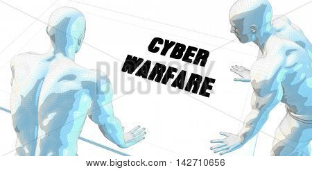 Cyber Warfare Discussion and Business Meeting Concept Art 3d Illustration Render