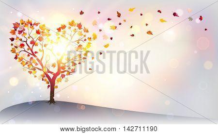 Autumn In Love - Tree In A Heart Shape
