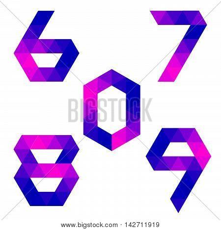 Series Of Geometric Numbers 6, 7, 8, 9, 0
