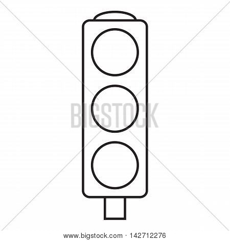 Line icon traffic light. Web icon. Vector illustration.