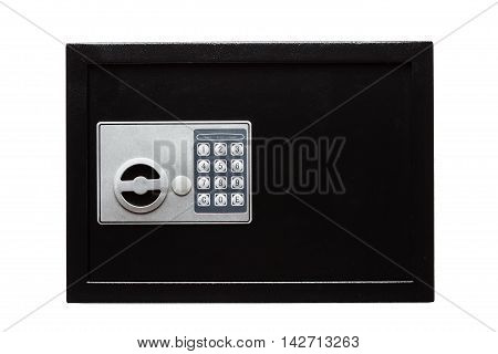 Electronic Home Safe Isolated On White Background