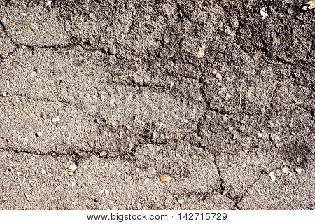 cracked dry dirty ground for background texture