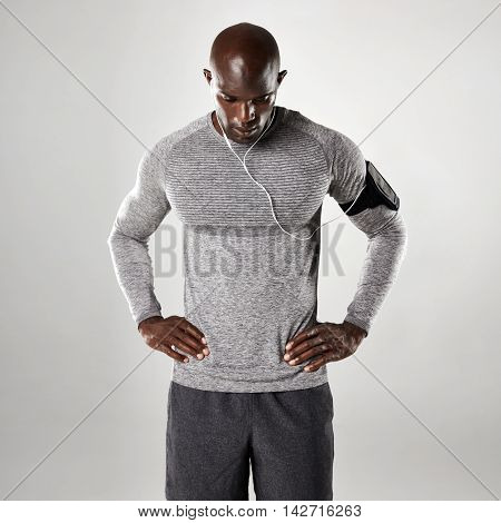 Young African Man In Long Sleeve Shirt