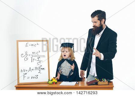Teacher Man Swear Child Boy