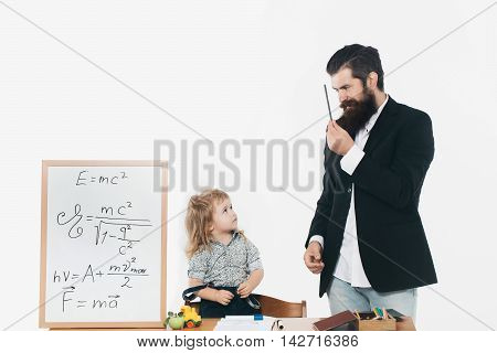 Cute Boy And Teacher