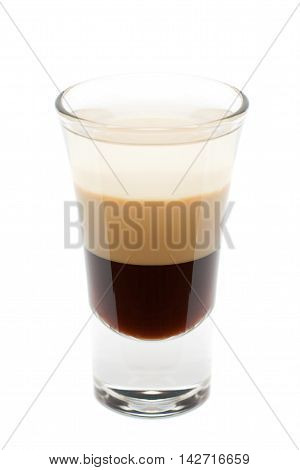 Cocktail - B-52 Isolated on White Background