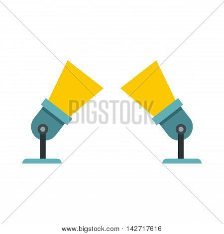 Two spotlights icon in flat style on a white background