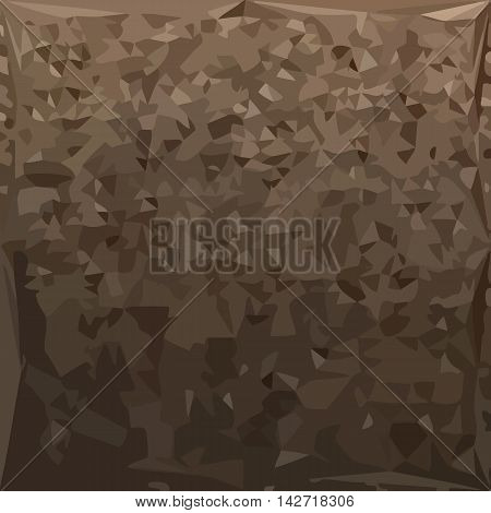 Low polygon style illustration of an antique brass camo abstract geometric background.