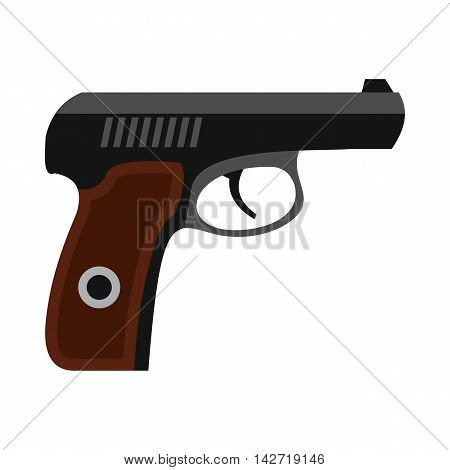 Gun icon in flat style on a white background
