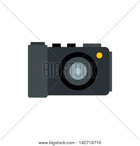 Camera icon in flat style on a white background