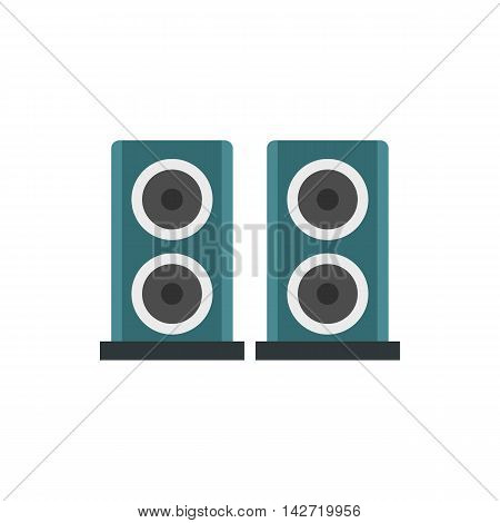 Two audio speakers icon in flat style on a white background