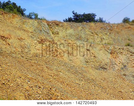 Hill near Stone Pit during sunny day