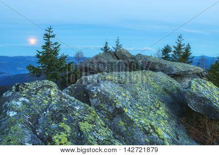 Carpathians mountain in autumn time