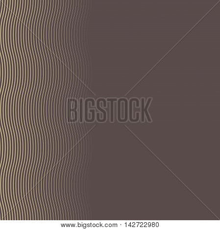 Seamless pattern. Modern geometric brown and golden pattern with repeating wavy lines