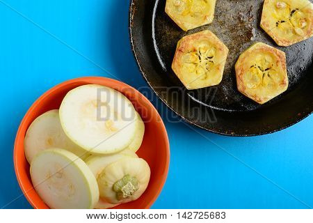 Fried Courgette In The Pan