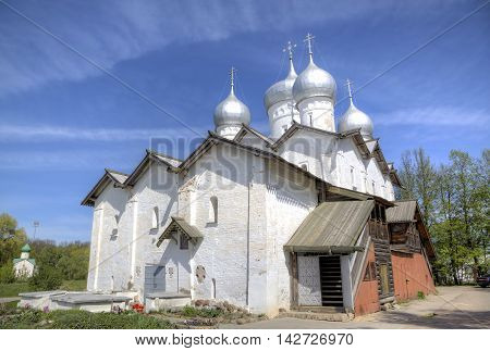 Church of Boris and Gleb at Plotniki. Veliky Novgorod, Russia