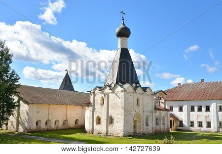Hospital church Euphemia the Great in Kirillo-Belozersky monastery near City Kirillov Vologda region Russia.
