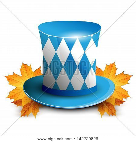Oktoberfest German beer festival. Oktoberfest celebration design with Bavarian hat.