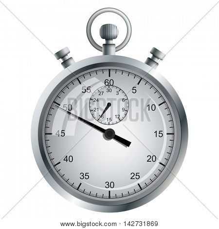 The device for the precise measurement of time intervals. Manual mechanical stopwatch.