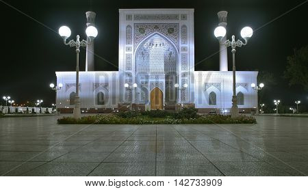 Tashkent, Uzbekistan - August 02, 2015: Minor Mosque - a new mosque in the capital of Uzbekistan in Tashkent. The mosque is located on the Bank of Ankhor river. The construction of the mosque