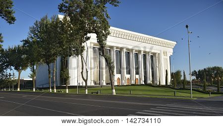 Tashkent, Uzbekistan - August 08, 2015: Palace of international forums