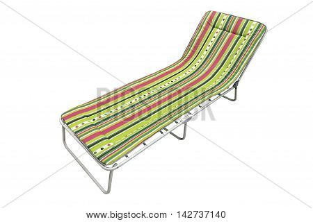 image of beach cot isolated on a white background
