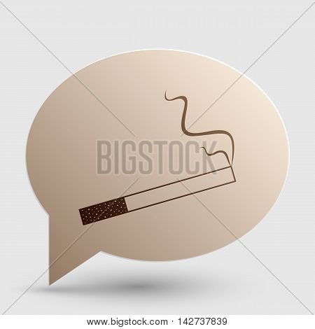 Smoke icon great for any use. Brown gradient icon on bubble with shadow.