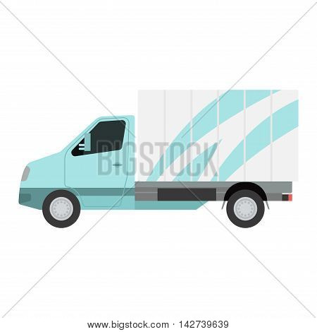 Delivery vector transport truck van. Delivery service van, fast shop service truck. Delivery vehicle. Product goods shipping transport. Fast delivery truck van vector