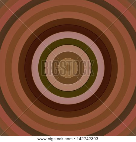 Concentric circles in a square, brown.
