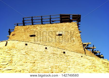 Deva Fortress, built in the mid-thirteenth century at the top of the Fortress Hill, on the place of a Dacian settlement, Romania, Europe
