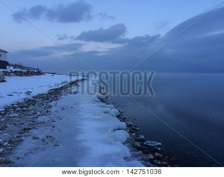 Lake Baikal-the deepest in the world. While in Siberia.
